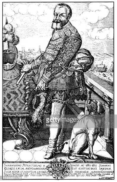 john george i (german: johann georg i.) (5 march 1585 – 8 october 1656) was elector of saxony from 1611 to 1656 - johann georg stock illustrations