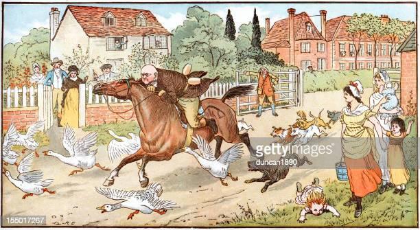 illustrations, cliparts, dessins animés et icônes de john gilpin ridings si le village - impatient