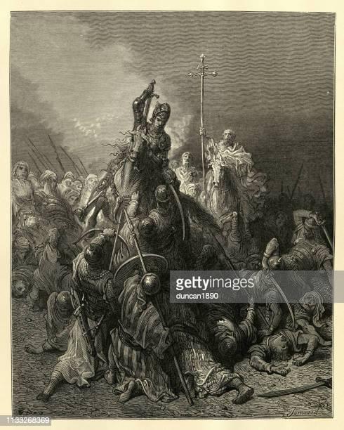 John Hunyadi leading counterattack at the Siege of Belgrade, 1456