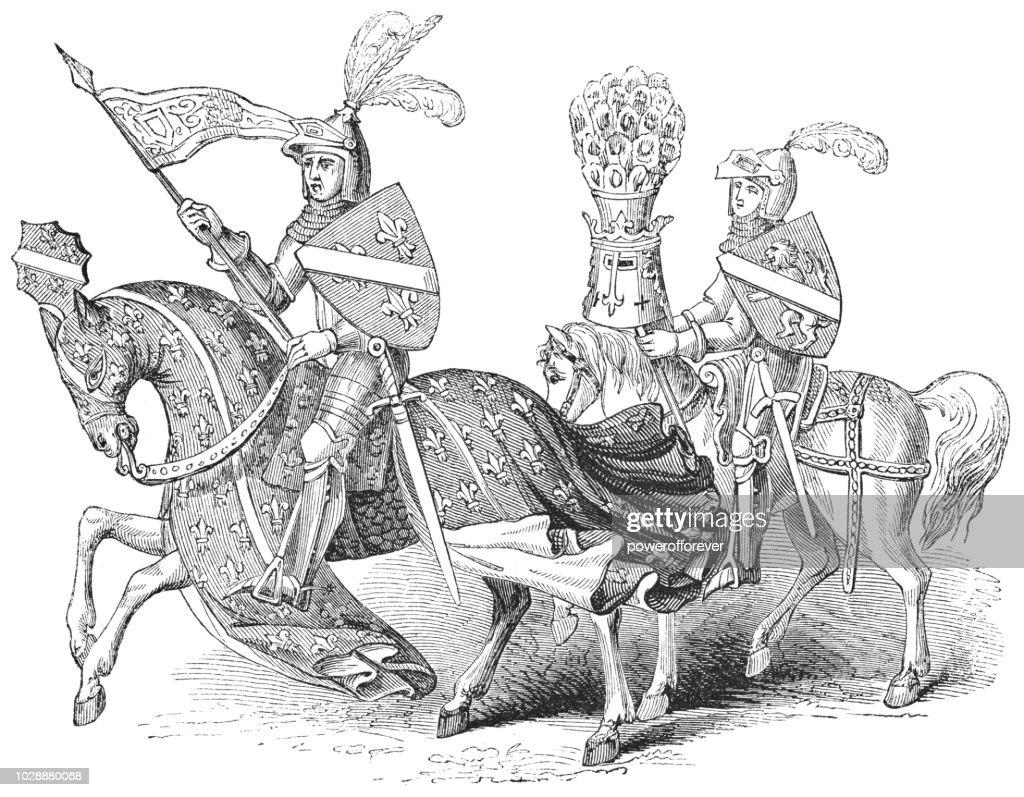 John I, Duke of Bourbon : Stock Illustration