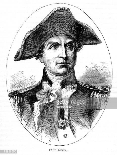 ilustrações, clipart, desenhos animados e ícones de john paul jones pai da marinha americana - american revolution