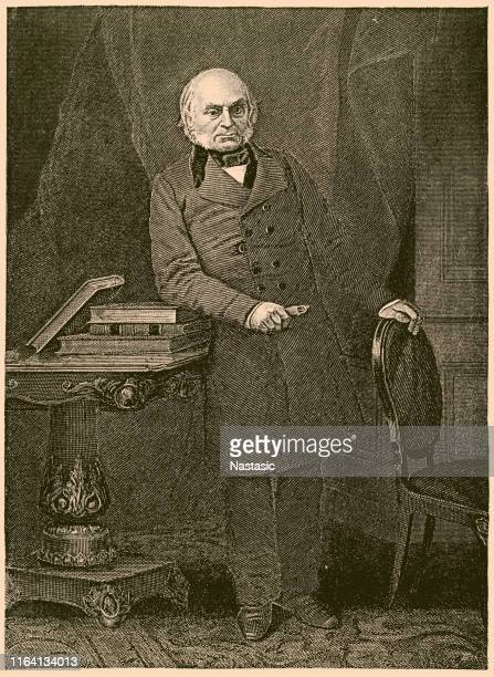 john quincy adams (1767-1848), 6th u.s. president - us president stock illustrations