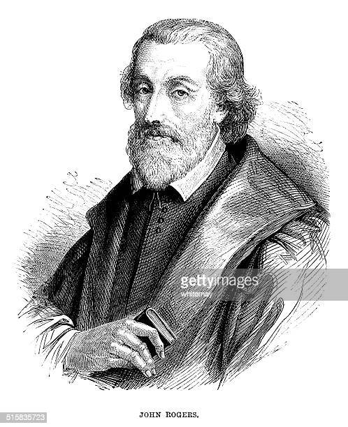 john rogers - bible editor and martyr - faith rogers stock illustrations
