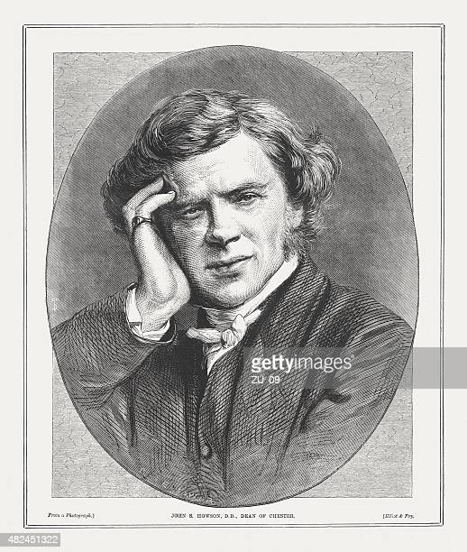 john saul howson (1816 - 1885), english priest, published 1873 - anglican stock illustrations