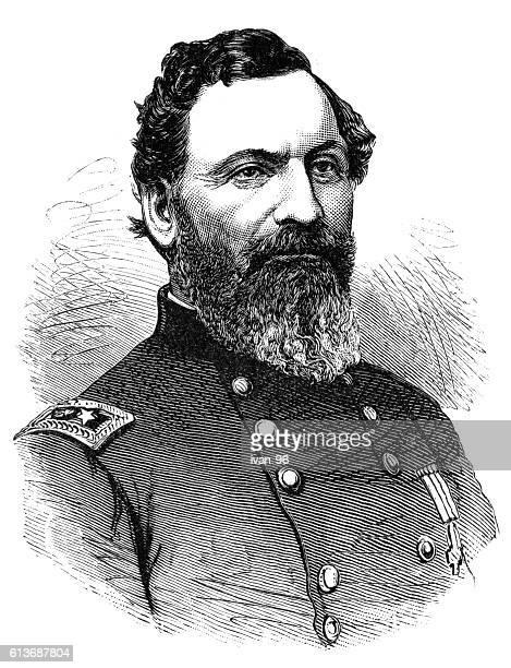 john sedgwick - battle of gettysburg stock illustrations