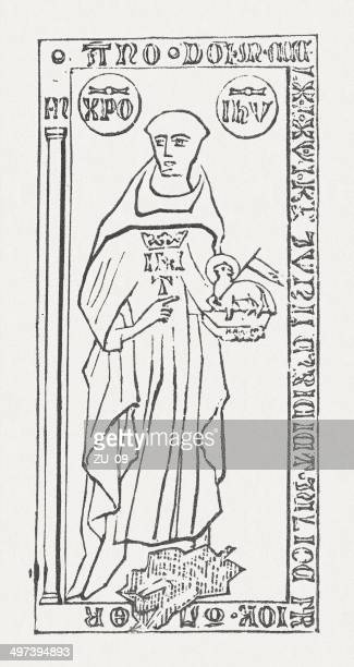 john tauler (johannes tauler, c.1300-1361), german theologian, published in 1877 - circa 14th century stock illustrations, clip art, cartoons, & icons