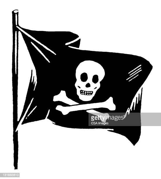 jolly roger flag - 海賊旗点のイラスト素材/クリップアート素材/マンガ素材/アイコン素材