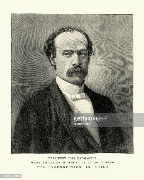 ホセ・マヌエル・バルマケダ、チリ大統領、19世紀 - 1890~1899年点のイラスト素材/クリップアート素材/マンガ素材/アイコン素材