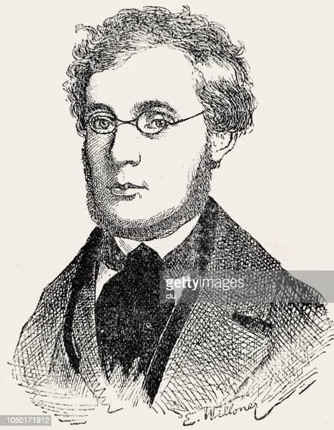 stockillustraties, clipart, cartoons en iconen met josef hyrtl, oostenrijkse artsen, 1810-1894 - arts culture and entertainment