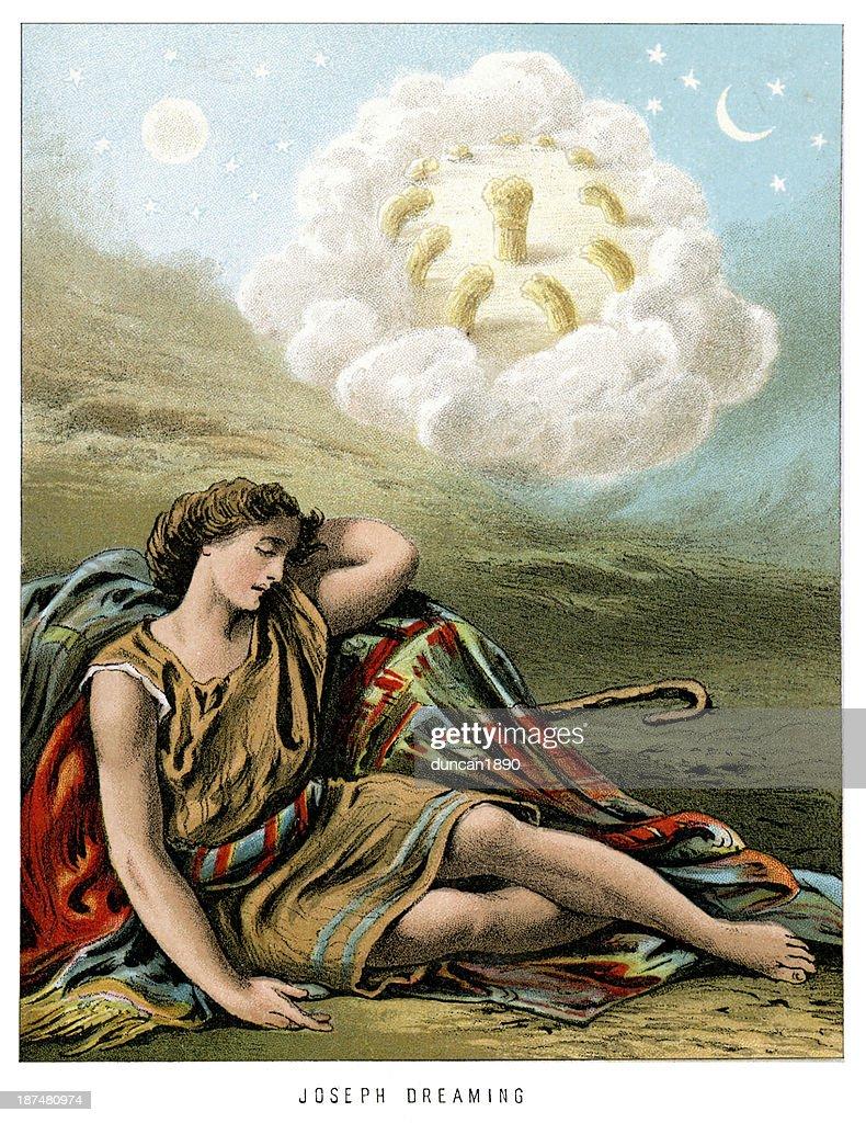 Joseph Dreaming : stock illustration