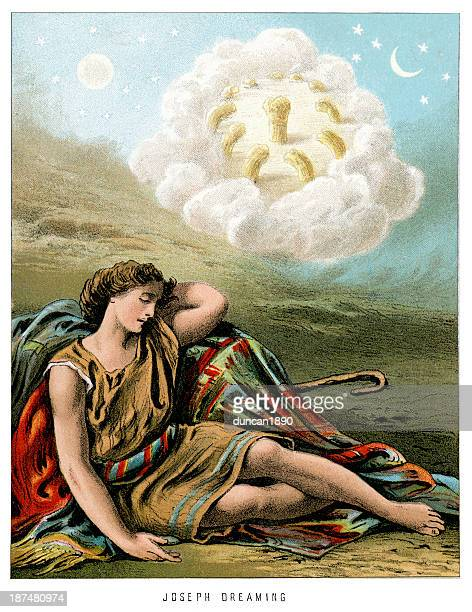 joseph dreaming - ethereal stock illustrations, clip art, cartoons, & icons