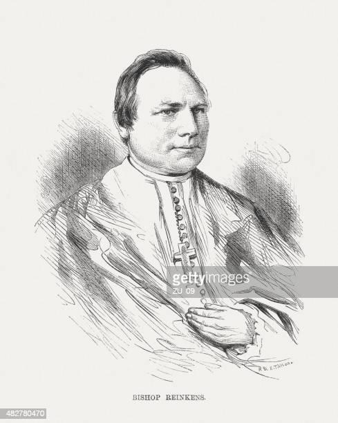 ilustrações, clipart, desenhos animados e ícones de joseph hubert reinkens (1821-1896), alemão bishop, publicado 1873 - bishop clergy
