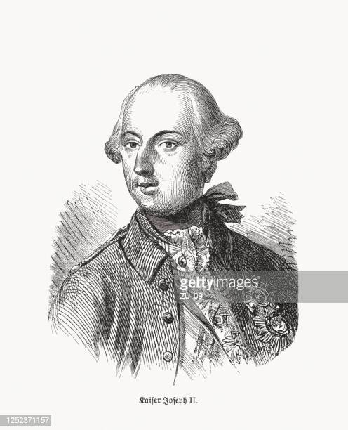 joseph ii (1741-1790), holy roman emperor, wood engraving, published 1893 - austrian culture stock illustrations