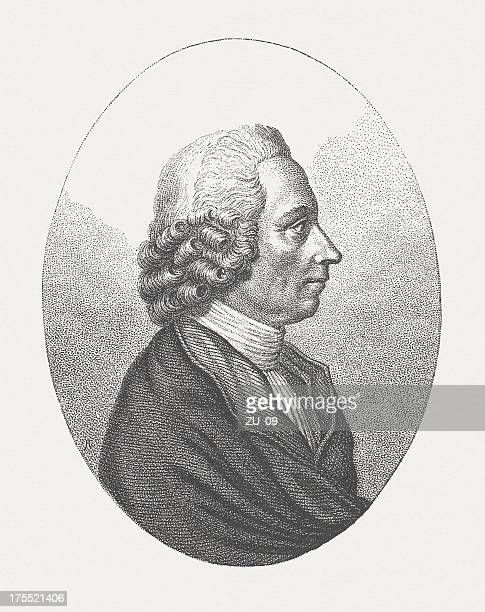 joseph priestley (1732/33-1804), german-american philosopher and scientist, published in 1882 - physicist stock illustrations, clip art, cartoons, & icons