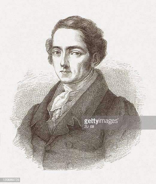 joseph von fraunhofer (1787-1826), german physicist, wood engraving, published 1877 - physicist stock illustrations, clip art, cartoons, & icons