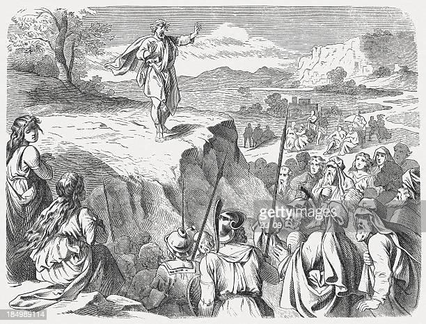 jotham's parable - judge entertainment stock illustrations