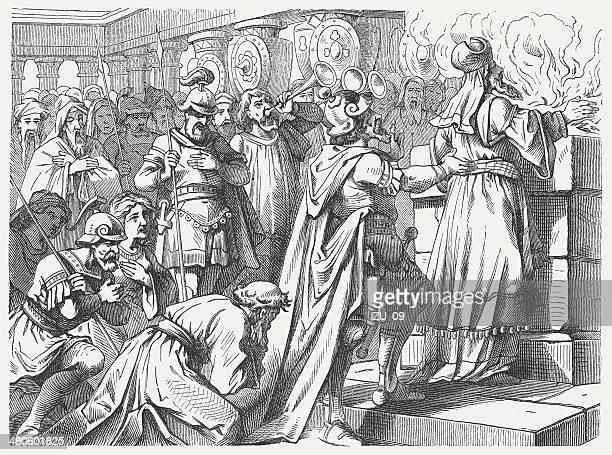 Judas' sacrif on the newly altar (1 Maccabees 4)