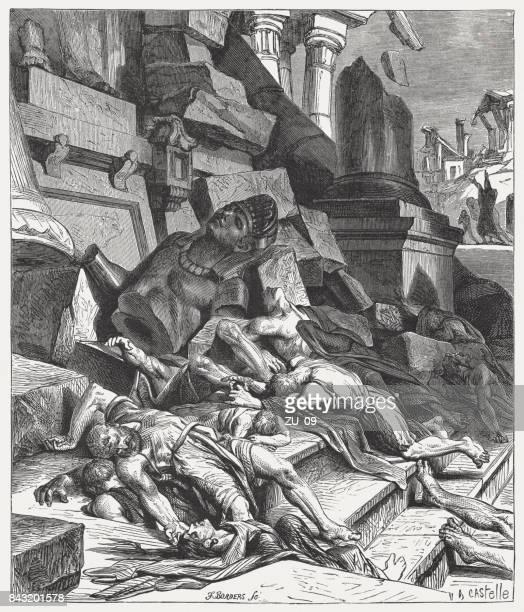 偶像崇拝のイスラエル人 (エゼキエル書 6、3-7)、判断が 1886 年に出版 - 偶像点のイラスト素材/クリップアート素材/マンガ素材/アイコン素材