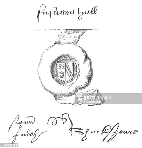 証書の judith シェークスピアーの署名 - 証書点のイラスト素材/クリップアート素材/マンガ素材/アイコン素材