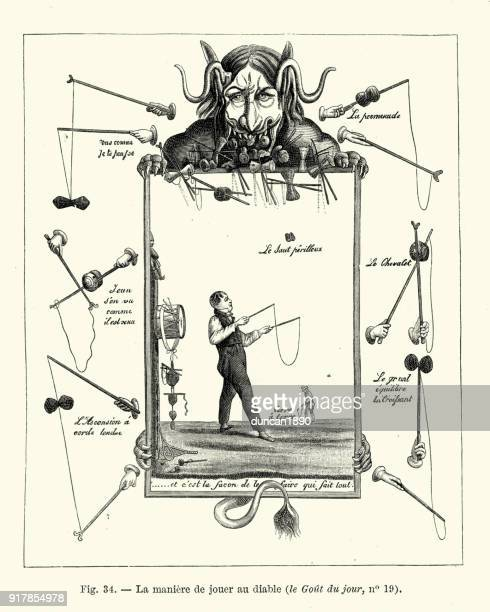 Jongleur avec un Diabolo, français au début du XIXe siècle
