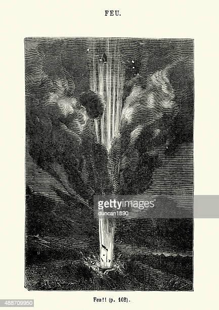 Jules Verne - The Spaceship blasting off