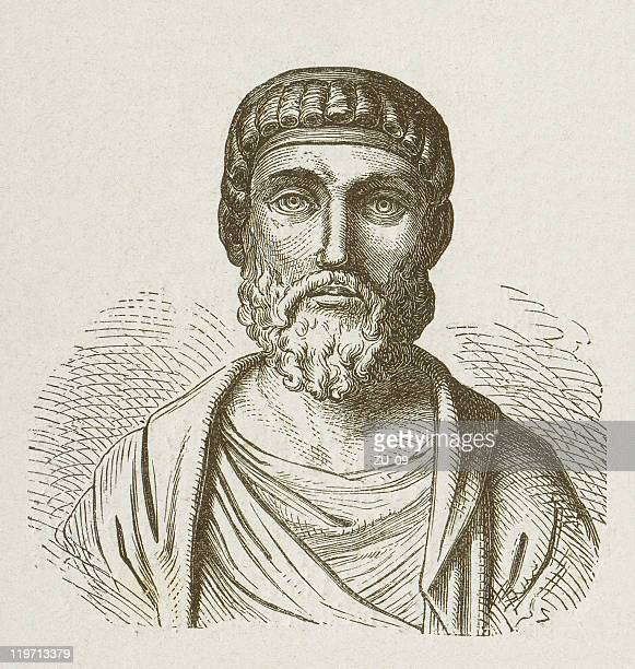 Julian the Apostate (331-363), Roman Emperor, wood engraving, published 1877