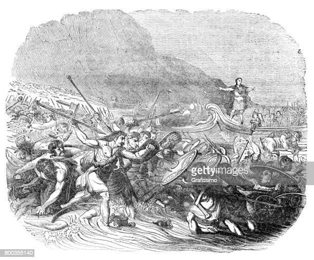 Julius Caesar emperor invading England 55 B.C