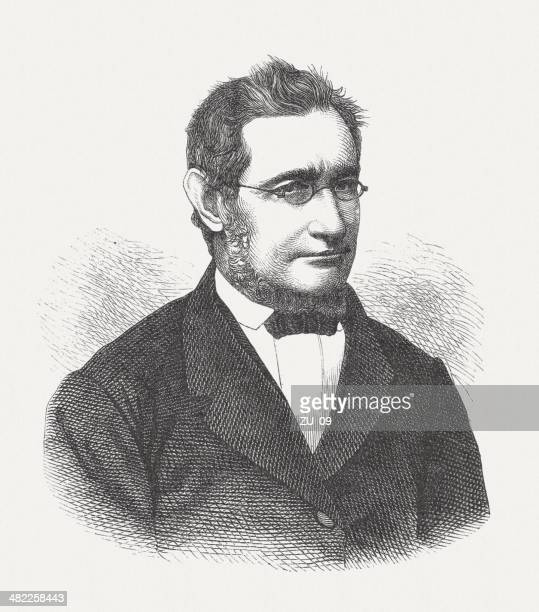 julius robert von mayer (1814-1878), german physician and physicist - physicist stock illustrations, clip art, cartoons, & icons