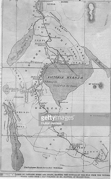 Map Of Africa Lake Victoria.A Map Of The Area Around Lake Victoria In Central Africa Original