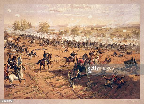 The Battle of Gettysburg in Pennsylvania. The battle took place from July 1 to July 3, 1863.