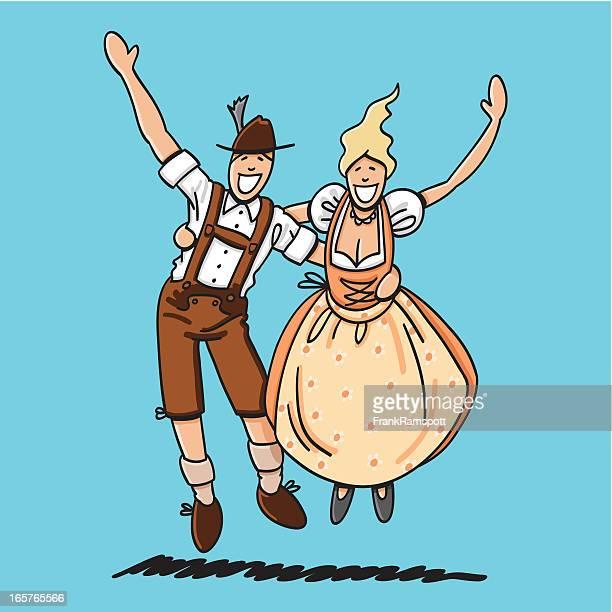 Jumping Oktoberfest Lovers
