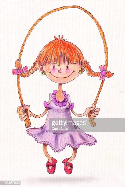 jumping rope - skipping stock illustrations, clip art, cartoons, & icons