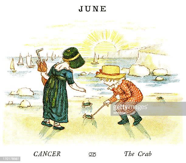 june - kate greenaway, 1884 - june stock illustrations