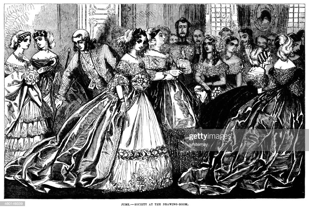 June - Society at the Drawing Room : stock illustration