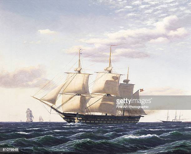 juno off birkenhead - sailing ship stock illustrations