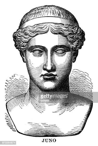 juno, roman goddess - roman goddess stock illustrations, clip art, cartoons, & icons