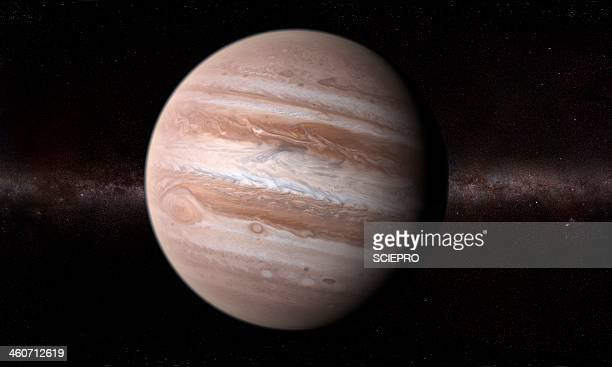 jupiter, artwork - jupiter planet stock illustrations