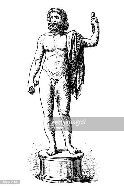 jupiter - greek mythology stock illustrations, clip art, cartoons, & icons
