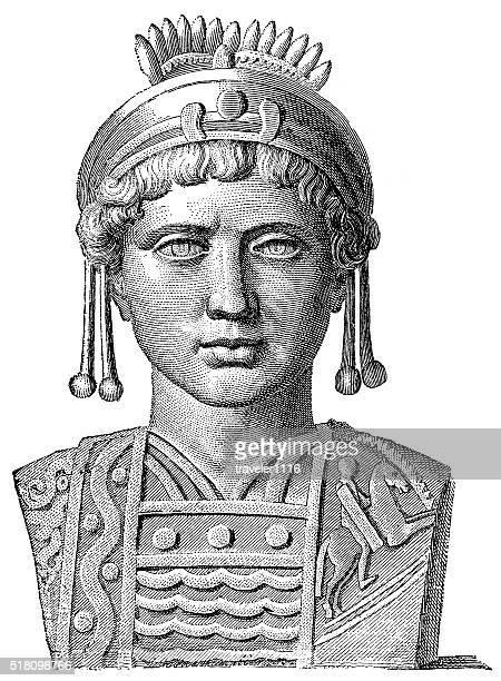 justinian i - byzantine emperor - justinian i stock illustrations