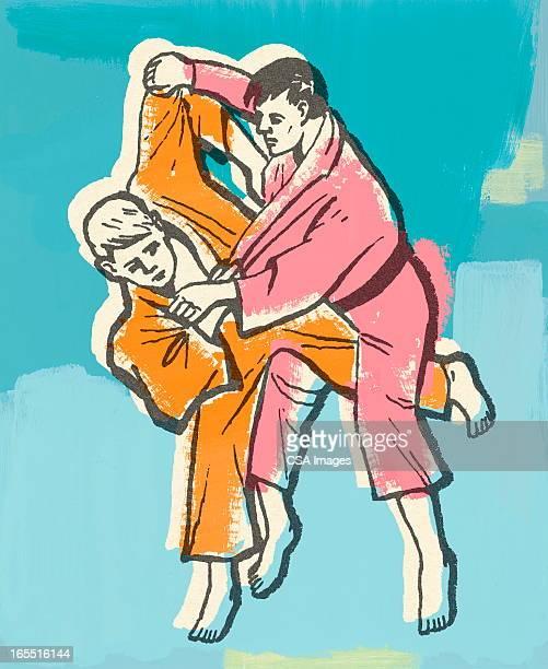 ilustrações de stock, clip art, desenhos animados e ícones de karaté - judo