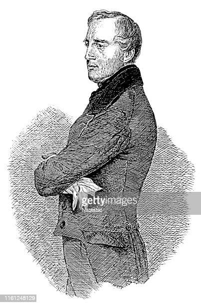 karl ludwig von bruck (elberfeld, 8 october 1798 – vienna, 23 april 1860) was an austrian statesman - statesman stock illustrations