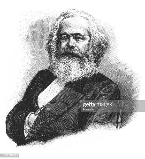 karl marx, german philosopher, 1818-1883 - karl marx stock illustrations