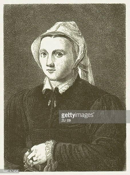 Katharina Von Bora 1499 1552 Wood Engraving Published In 1881