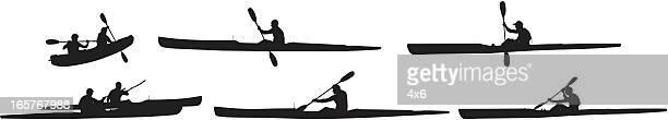 Kayaking silhouette images