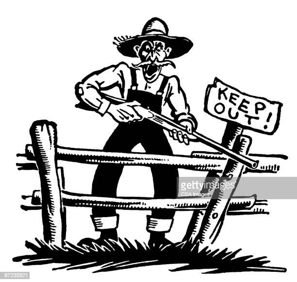 keep out - stubborn stock illustrations, clip art, cartoons, & icons