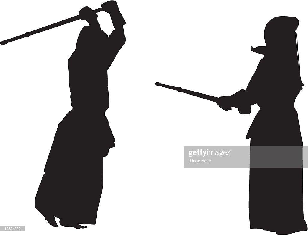 Kendo fighters #2 silhouette