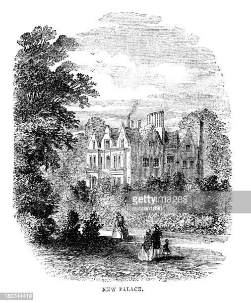 kew palace - palace stock illustrations