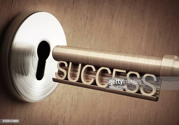 key to success, illustration - lock stock illustrations