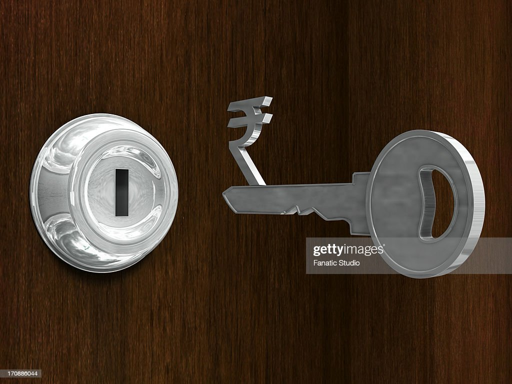 Key with rupee symbol in front of metal keyhole stock illustration key with rupee symbol in front of metal keyhole stock illustration buycottarizona