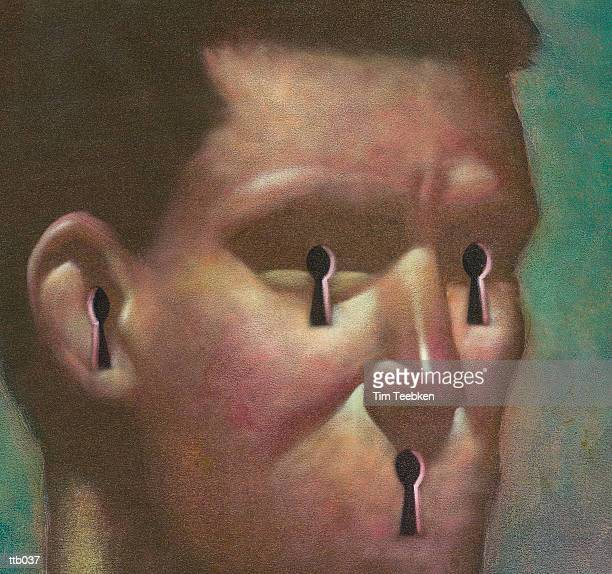 Keyholes in Man?s Face